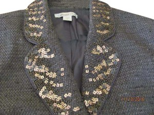 Coldwater Creek Embellished Lined BROWN Blazer