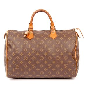 Louis Vuitton Canvas Speedy Leather Satchel in Monogram