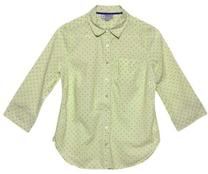 jcp Button Down Shirt Yellow Green