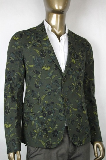 Gucci Green New Mens Two Button Floral Jacket It 52/ Us 42 342320 3661 Groomsman Gift