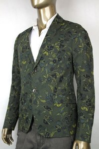Gucci $2690 New Mens Two Button Floral Jacket Green It 46/ Us 36 342320 3661
