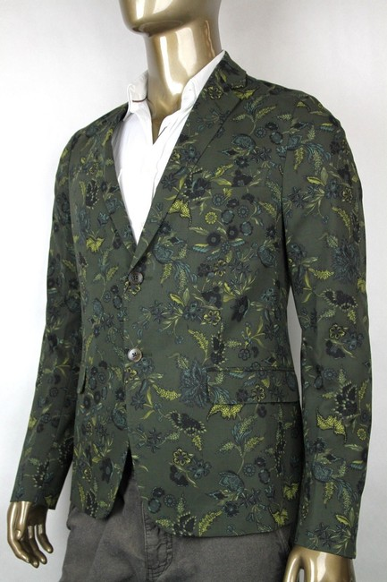 Gucci Green New Mens Two Button Floral Jacket It 46/ Us 36 342320 3661 Groomsman Gift Gucci Green New Mens Two Button Floral Jacket It 46/ Us 36 342320 3661 Groomsman Gift Image 1