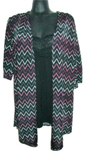 HeartSoul Zigzag Chevron Slinky Layered Top Multicolored