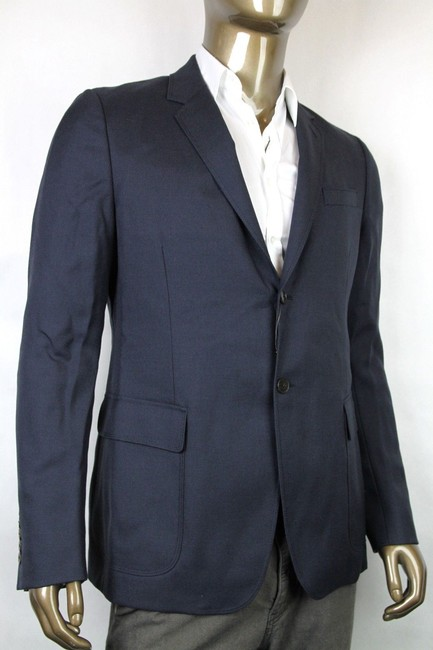 Gucci Navy New Men's Wool Mohair Jacket Quilted Lining It 52 / Us 42 337682 4240 Groomsman Gift Gucci Navy New Men's Wool Mohair Jacket Quilted Lining It 52 / Us 42 337682 4240 Groomsman Gift Image 1