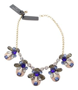 J.Crew Nwt $150 J crew blue stone bib necklace