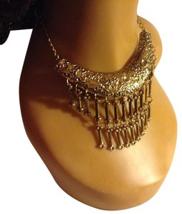 Antique Gold Tone Choker Necklace