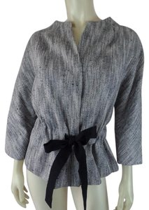 Talbots New Petite Retro Belt Dolman Black & White Blazer