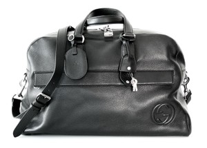 Gucci Carry-on Travel Gym Weekender Black Travel Bag