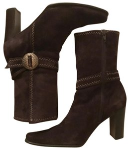 Apostrophe Suede Brown Boots