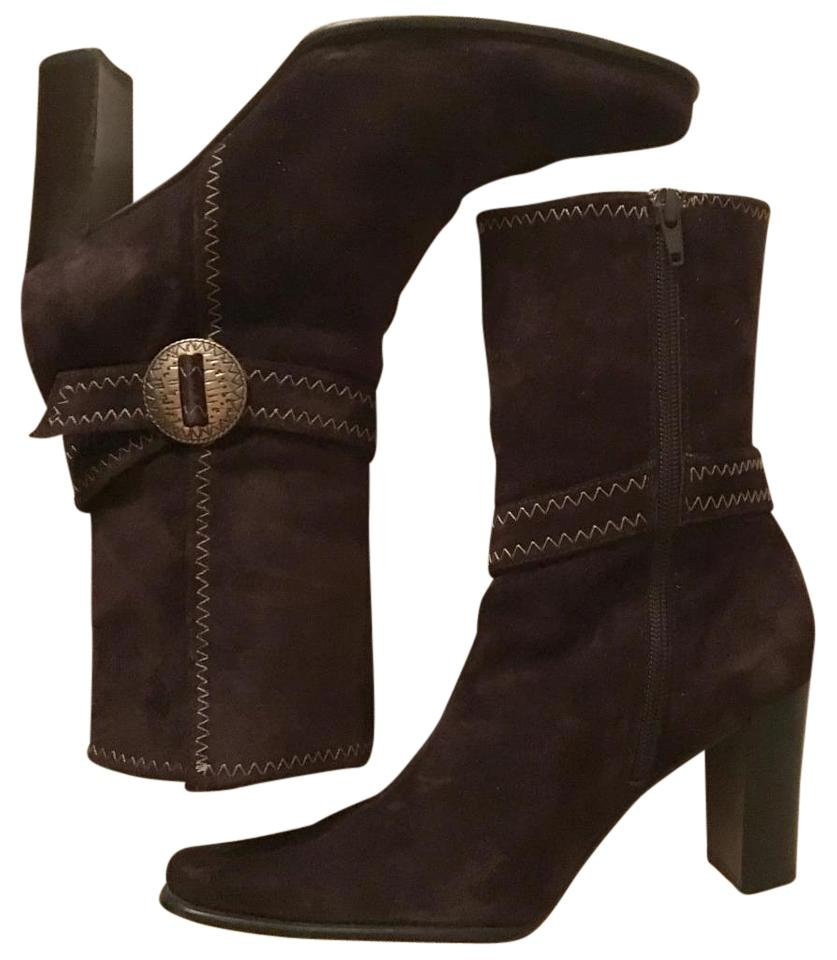 Apostrophe Brown Low Beige Suede Low Brown Calf High Boots/Booties 1de20c