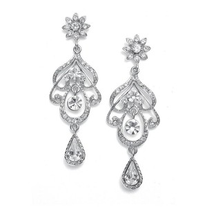Mariell Abstract Wedding Chandelier Earrings 3128e