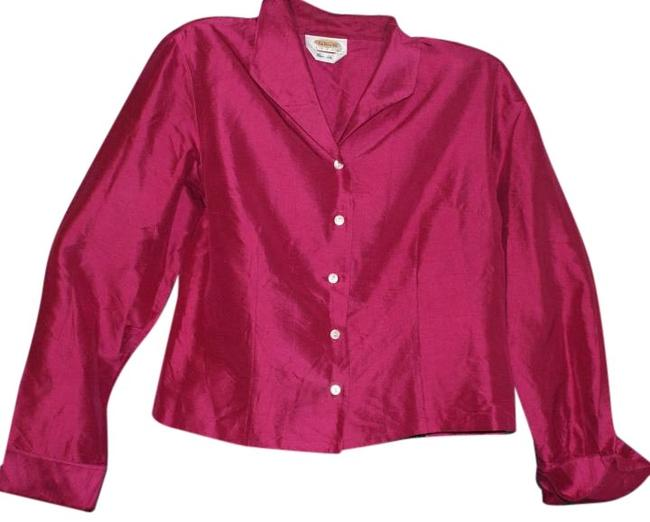 Preload https://img-static.tradesy.com/item/20102947/talbots-pink-cropped-silk-blouse-size-os-one-size-0-1-650-650.jpg