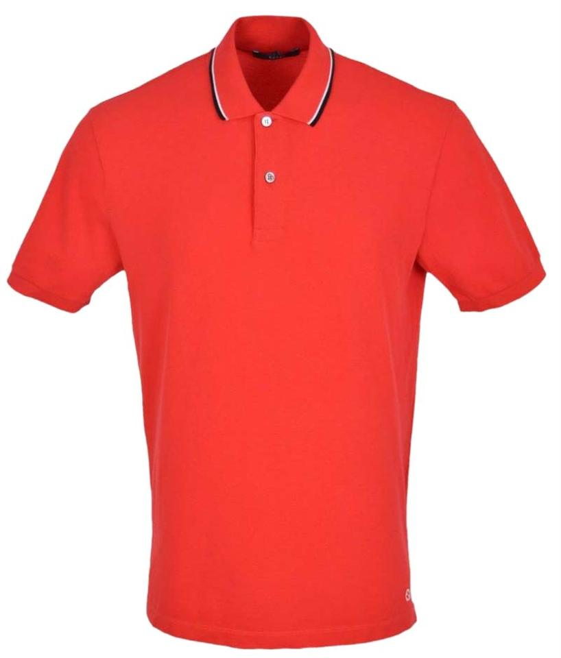 d153a3883 Gucci Red Jersey Men's 354345 Washed Cotton Gg Polo Golf Tee Shirt ...
