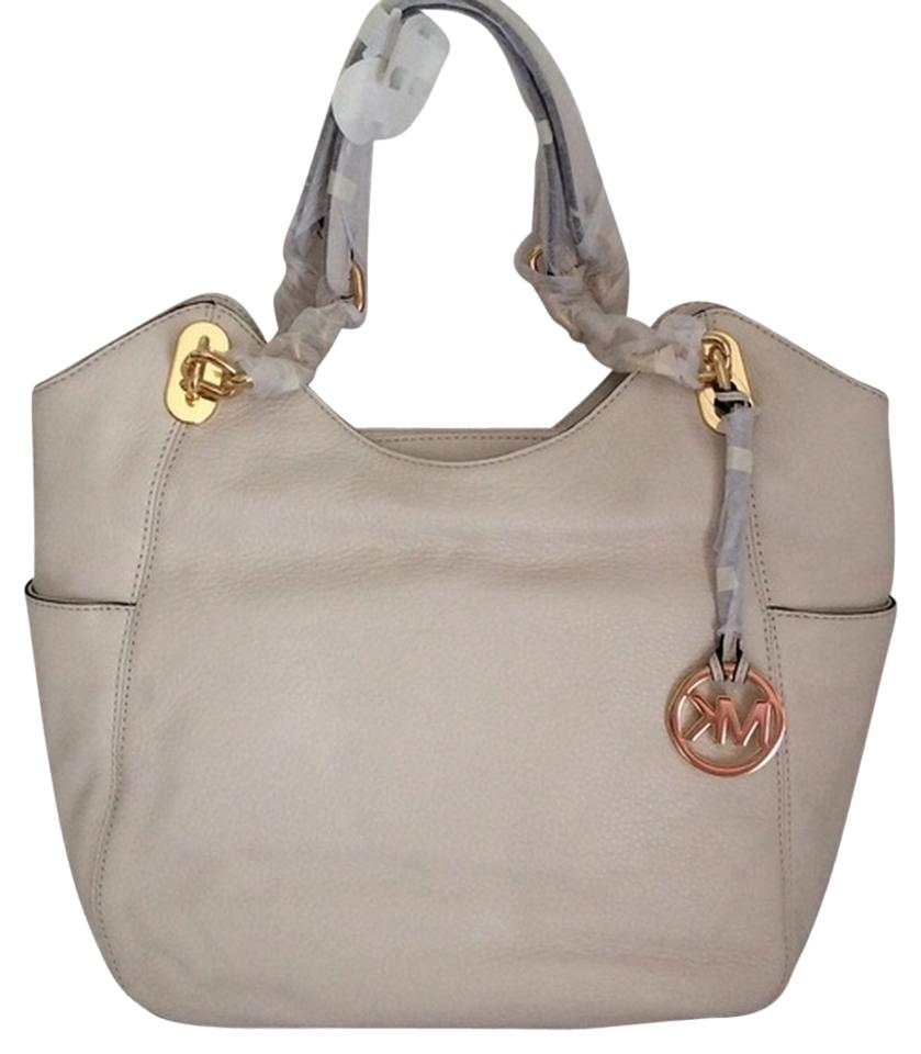 b0863e3f03aa MICHAEL Michael Kors Pebble Leather Lilly Large Tote in VANILLA .