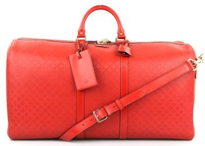 6224fbc0a994 Gucci Carry-on Gym Duffle Red Bright Diamante Travel Bag