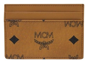 MCM MCM Heritage Mini Card Case Wallet Coated Canvas Leather Trim NWT