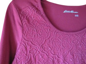 Eddie Bauer Embroidered Petite Medium Top Red
