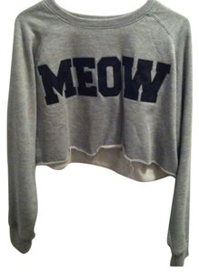 Meow forever 21 cropped sweater Sweater