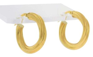 Italian Twisted Cable Hoop - 18k Yellow Gold Jewelry