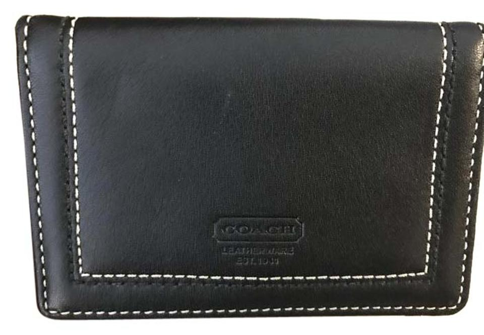 888e3e55e0af7 Coach Leather Business Card Holder or Small Wallet ID holder Image 0 ...