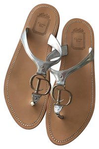 Dior tan and silver hardware Sandals