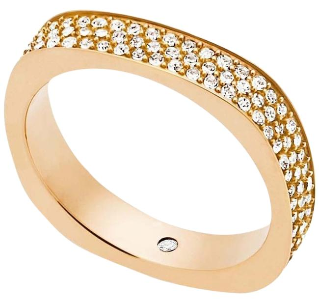 Michael Kors Collection Gold Brillance Pave Crystal Ring Michael Kors Collection Gold Brillance Pave Crystal Ring Image 1