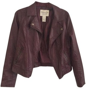 American Rag Maroon Leather Jacket