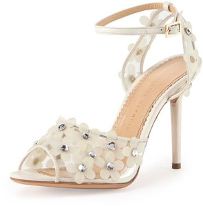 Charlotte Olympia New In Box Daisy Wedding Shoes