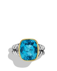 David Yurman David Yurman Women's Noblesse Ring With Hampton Blue Topaz