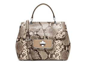 Michael Kors Python Leather Satchel in Natural