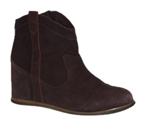 80%20 Wedge Leather Bootie Brown Boots