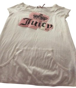 Juicy Couture Short Sleeve Pink Crown T Shirt White