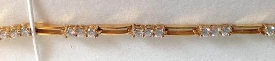 Other Gold-plated sterling silver with white sapphire settings bracelet