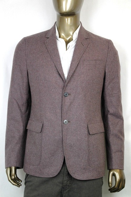 Gucci Gray/Dark Red New Men's Wool Cashmere Jacket It 50 / Us 40 358078 5464 Groomsman Gift Gucci Gray/Dark Red New Men's Wool Cashmere Jacket It 50 / Us 40 358078 5464 Groomsman Gift Image 1