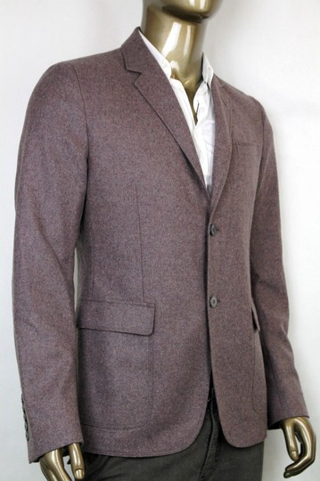 Gucci Gray/Dark Red New Men's Wool Cashmere Jacket It 50 / Us 40 358078 5464 Groomsman Gift