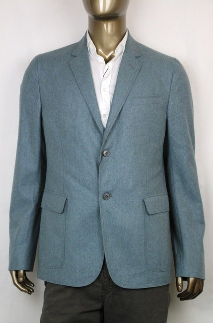 Gucci Light Blue New Men's Wool Cashmere Jacket It 58 / Us 48 358078 4568 Groomsman Gift Gucci Light Blue New Men's Wool Cashmere Jacket It 58 / Us 48 358078 4568 Groomsman Gift Image 1