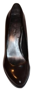 Nine West Patent Leather Leather Classic Brown Pumps