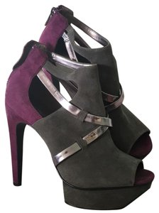 Calvin Klein Eggplant purple and gunmetal gray Boots