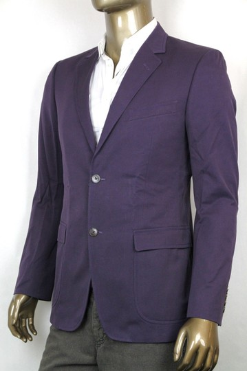 Gucci Purple New Men's Jacket W/Paisley Print Lining It 48/ Us 38 336709 5165 Groomsman Gift