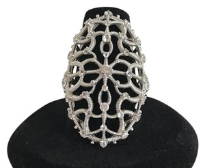 Judith Ripka 25% off SALE-Judith Ripka Lace Lrg Lace Ring - 1.03 CTS White Sapphire