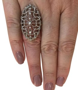 Judith Ripka Judith Ripka Large Lace Ring 1.03 CTS White Sapphire