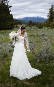 Vera Wang New Never Worn 11019clace Wedding Dress