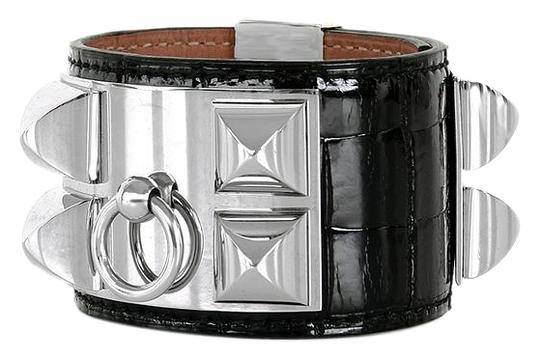 Preload https://img-static.tradesy.com/item/20103974/hermes-black-cdc-alligator-collier-de-chien-bracelet-0-1-540-540.jpg