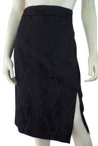 Altuzarra New Straight Slit Stretch Skirt Black