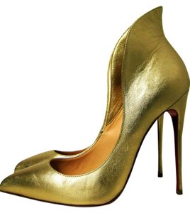 Christian Louboutin Mea Culpa Collard Heels Gold Pumps