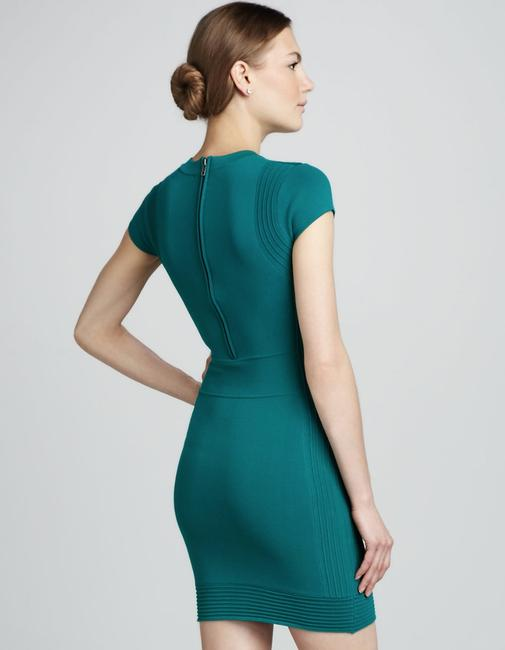 French Connection Bodycon Retro Green Holiday Officewear Dress