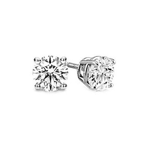 Other Round Diamond Classic 4-Prong Stud Earrings