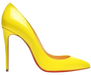 Christian Louboutin Pigalle Follies Louboutin Pigalle Size 38.5 Sun Yellow Pumps