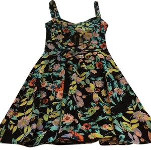 Volcom short dress Black, multi on Tradesy