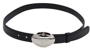 Prada MENS Prada Logo Plaque Leather Belt SIZE 80-32 THIN STYLE